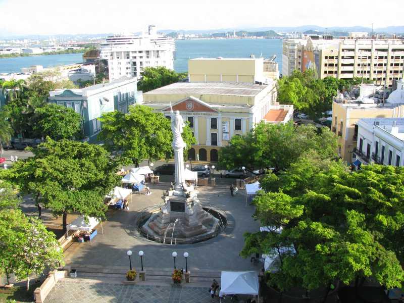 Plaza Colon across the street