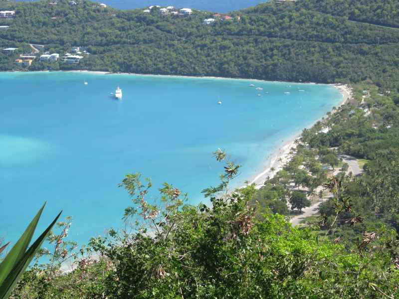 view of Magen's Bay from Drakes Seat