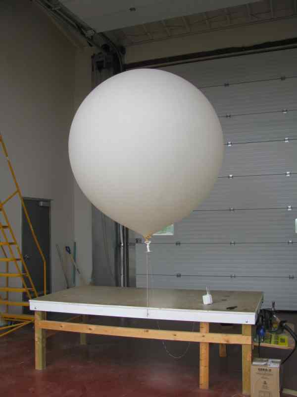 The balloon awaits the right time for it to be launched now