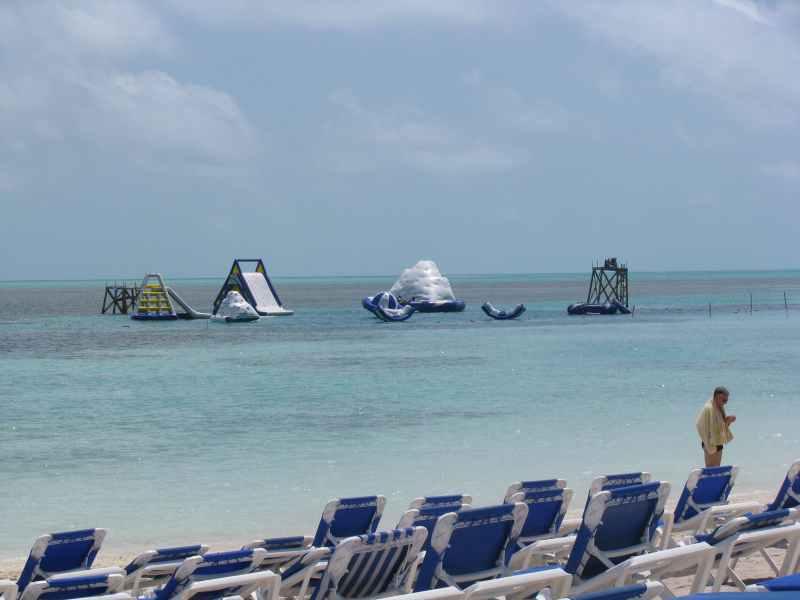 The toys at Coco Cay, Bahamas