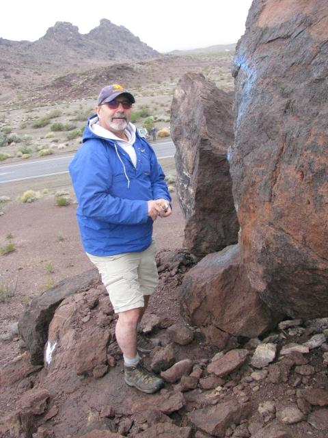 Rumrunner1 making the find at Graffit Rock