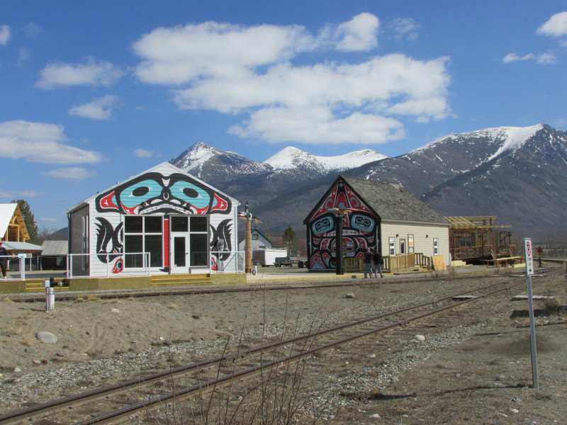 Some of the buildings in Carcross