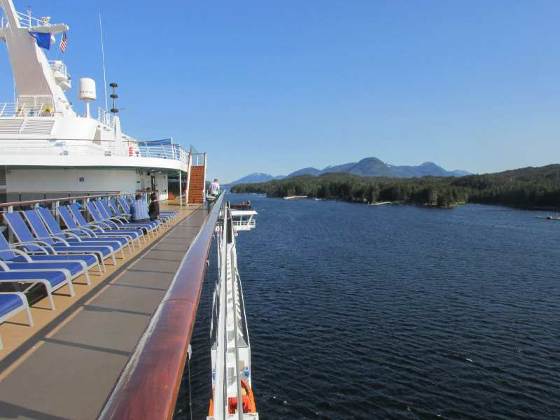 sailing down the channel from Ketchikan